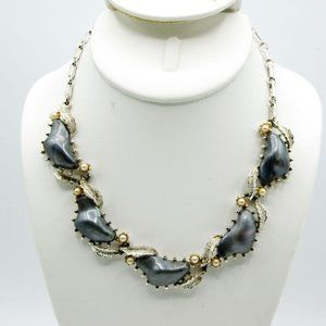 Vintage Coro Gray Moonglow and Pearl Choker